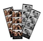 color or black  and white for photo booth rental Tulsa